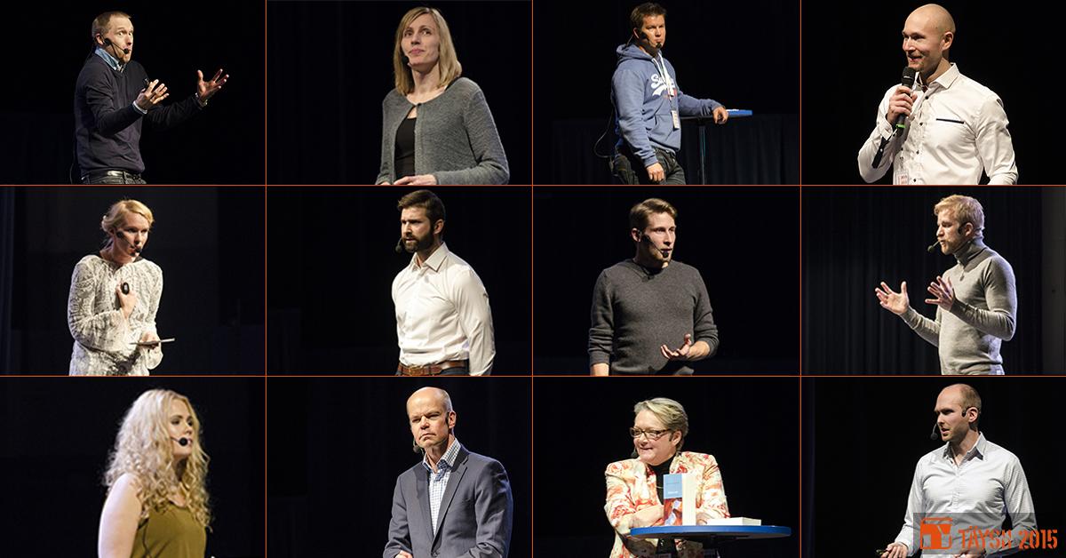 Koostekuva TÄYSII 2015 -seminaarin puhujista