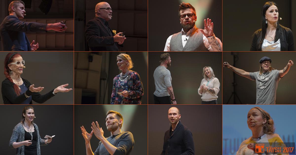 Koostekuva TÄYSII 2017 -seminaarin puhujista