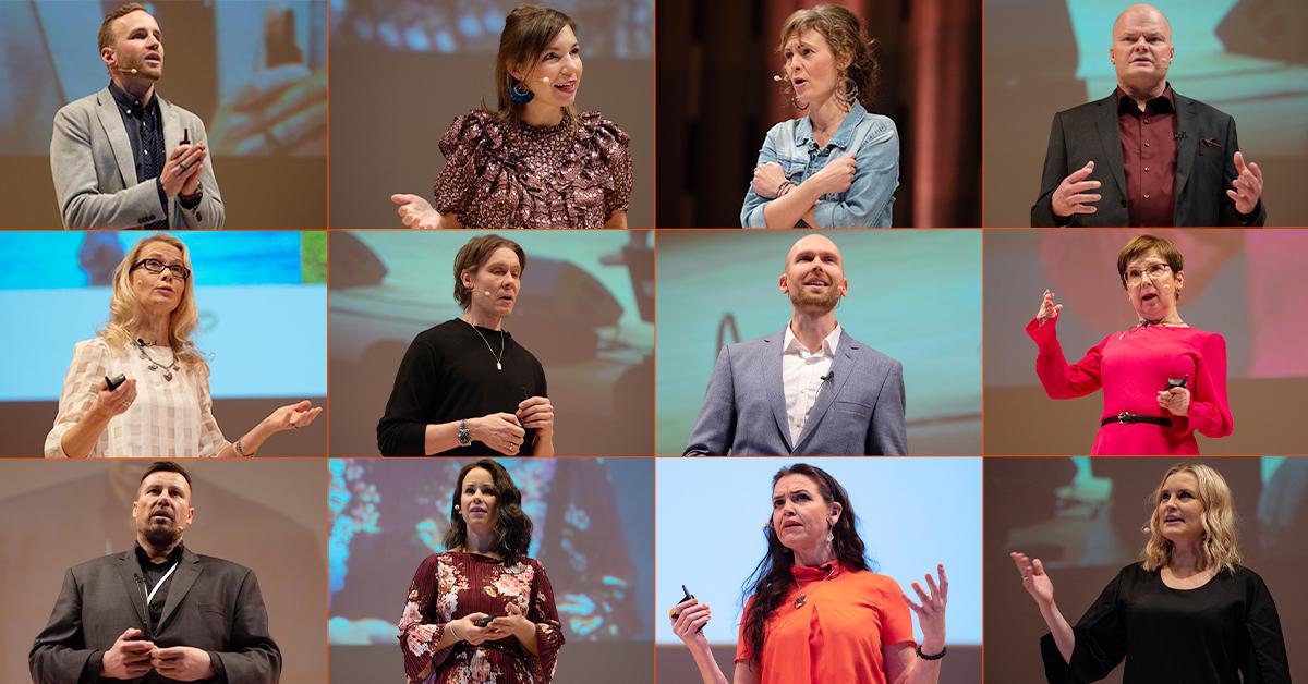 Koostekuva TÄYSII 2019 -seminaarin puhujista